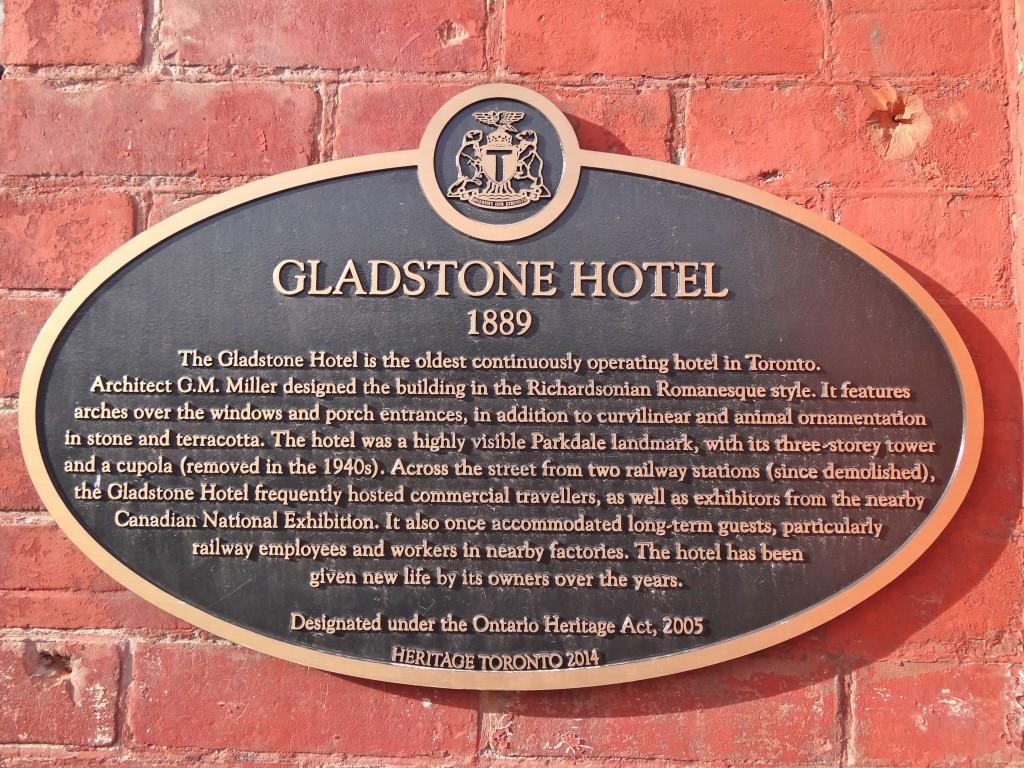 Gladstone plaque